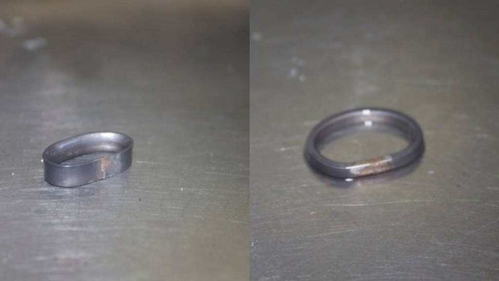 The rings soldered together