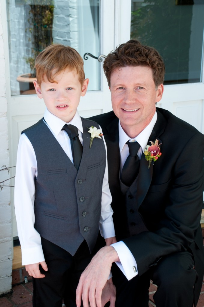 Jerram and the ring bearer, Lazlo.