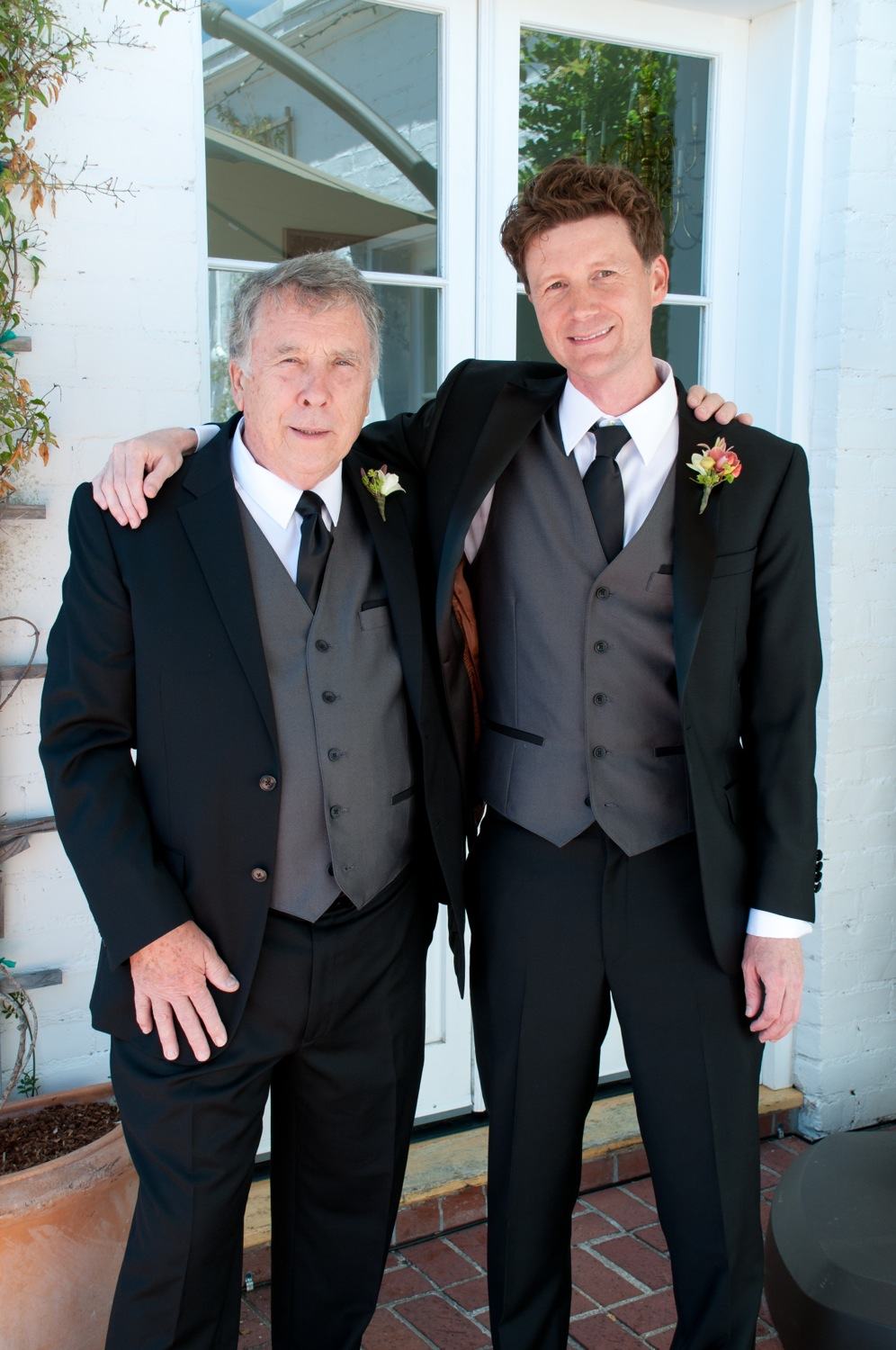 Jerram with the father of the bride, Glen.