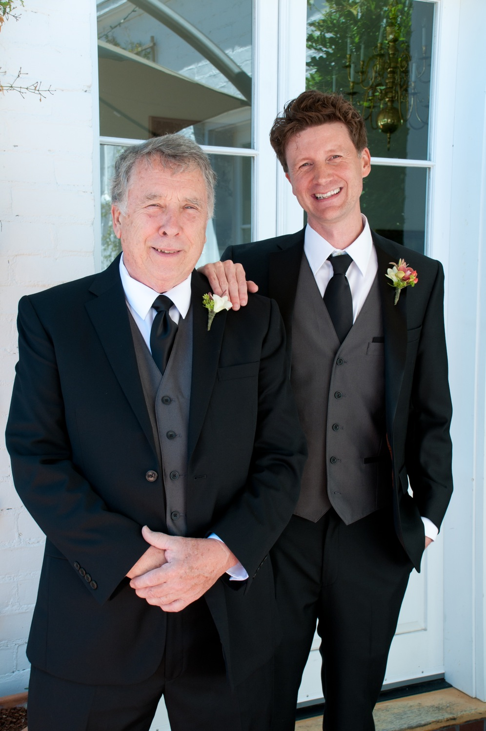 Jerram and the father of the bride, Glen.