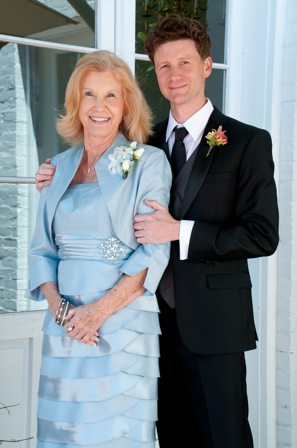 Jerram with his mother, Barbara.