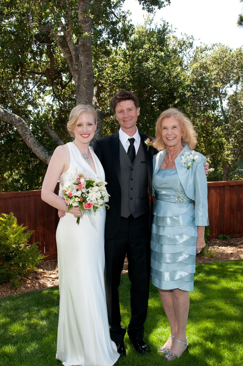 Jerram, Elizabeth, and the mother of the groom, Barbara.