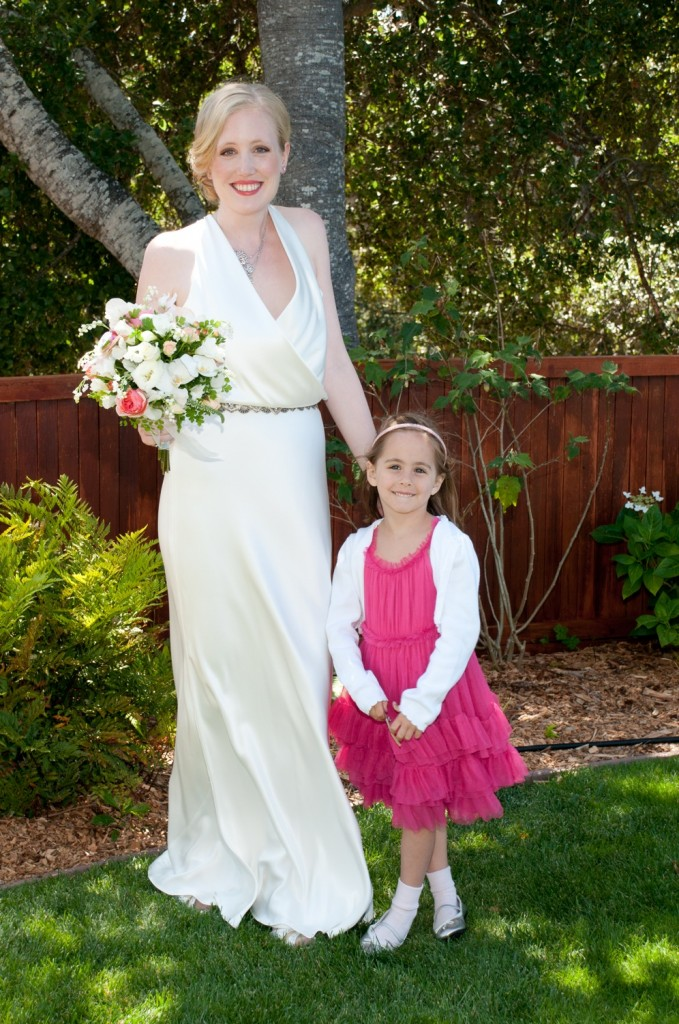 Elizabeth and the flower girl, Gretchen.