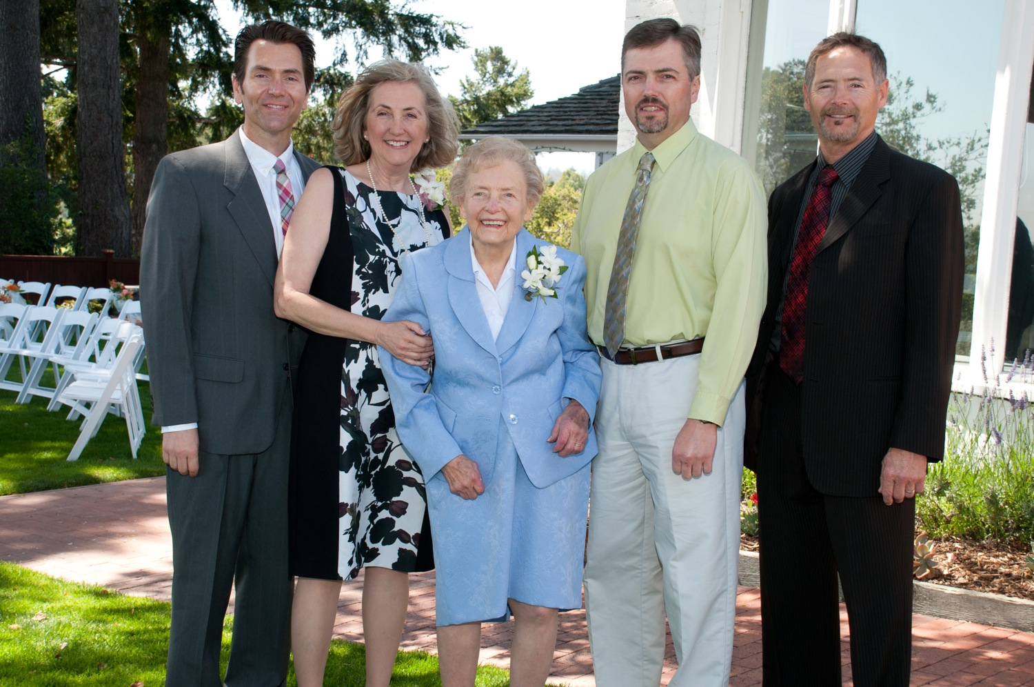 Ted, Susan, Mary, Tod, and Tim Dahle.